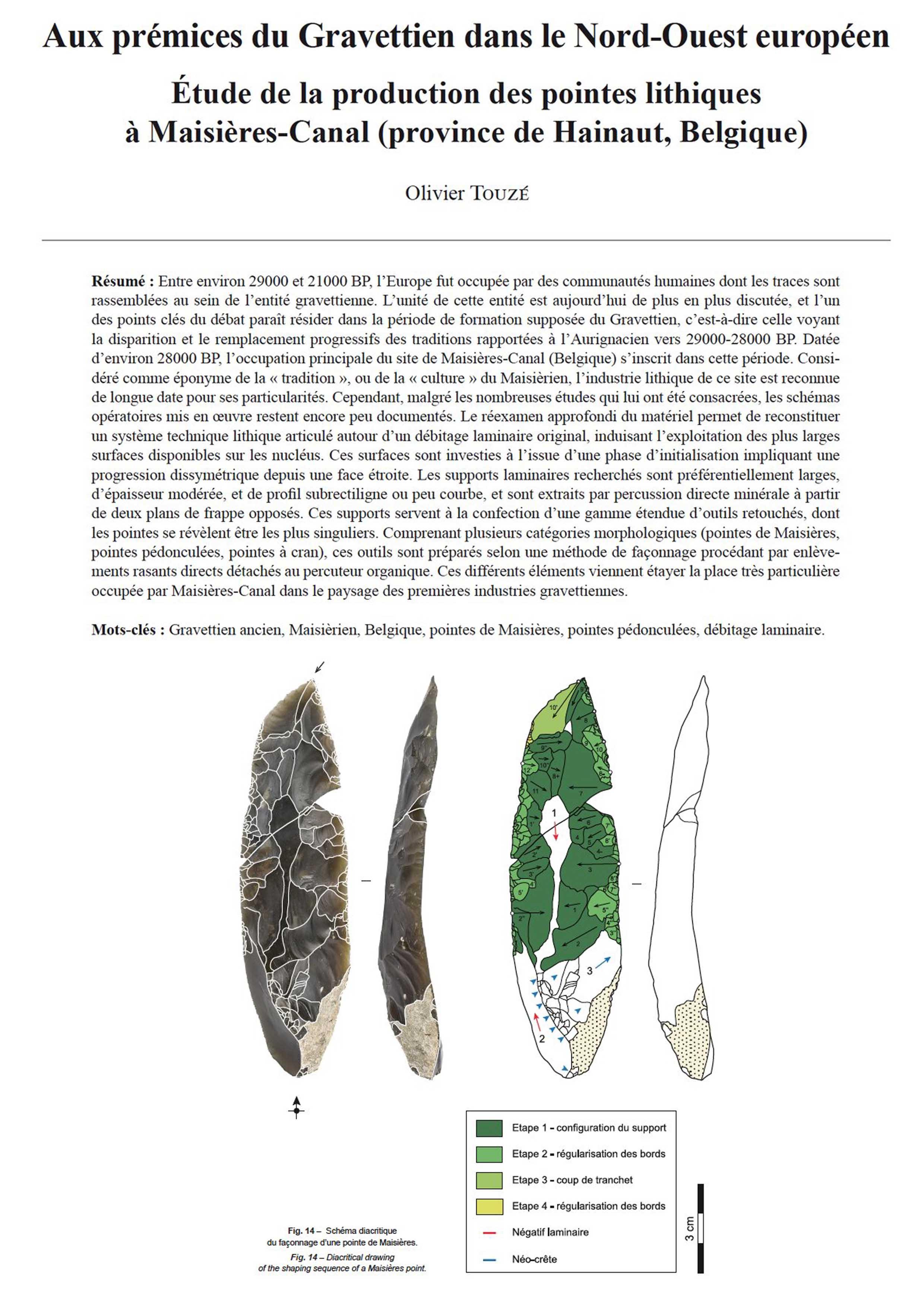 Difference Niveau Entre 2 Pieces 14-2018, tome 115, 3, p. 455-495 - olivier touzÉ – aux prémices du  gravettien dans le nord-ouest européen. etude de la production des pointes